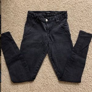 Guess Seamless Shape Up faded black jeans